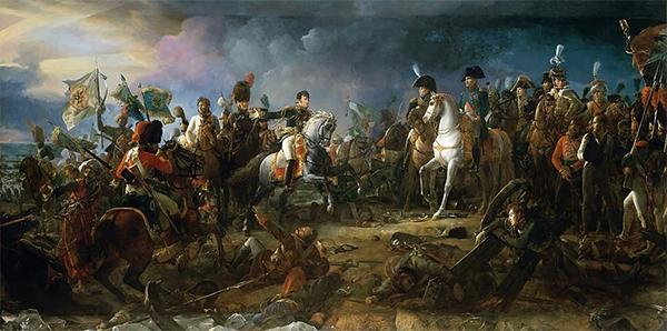 La batalla de Austerlitz, por  François Pascal Simon Gérard